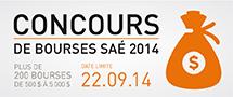 Concours des bourses SAÉ 2014